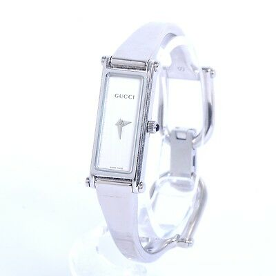 Authentic GUCCI Stainless Steel QZ 1500 L Watches 1500 L