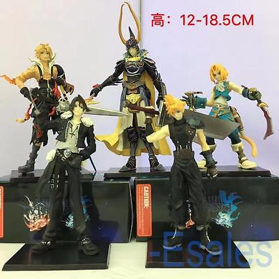 5Pcs Anime Final Fantasy FF PVC Figure Model Toys Cloud Tidus Cosplay Collection