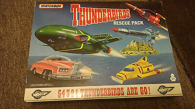 Matchbox Thunderbirds Rescue Pack TB-700, Thunderbird 1 2 3 4 & FAB 1, IR, c1992