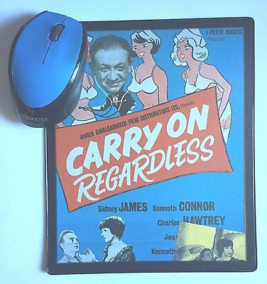 Carry On Regardless Sid James Kenneth Williams Joan Sims movie poster Mouse Mat