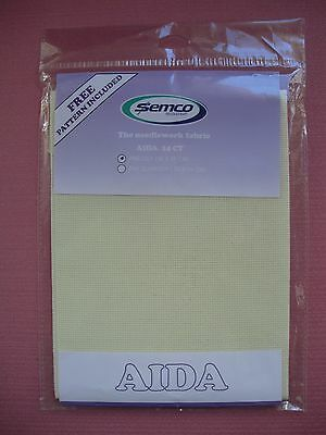 36cm x 45cm Ecru - 14ct 14 Count Aida Cloth Fabric - Cross Stitch Supplies