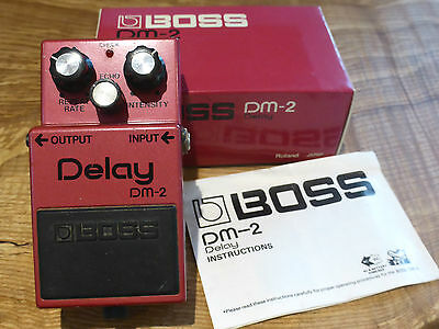 Boss DM-2 Analog Delay Effects Pedal Rare V1 Japan 1981 MN3005 BBD Circuit