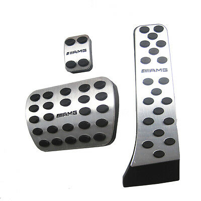 AMG Foot Brake Pedal Pads Covers for Mercedes Benz C E S GLK SLK CLS SL Class