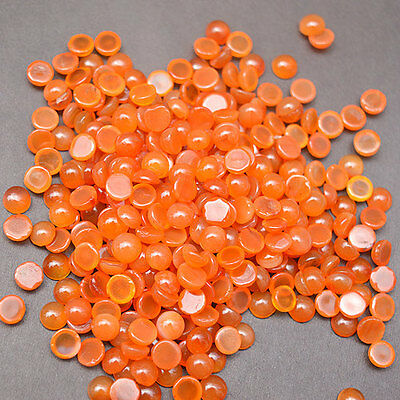 100 Pieces Lots Natural Carnelian Gemstone 7 MM Round Loose Carnelian Cabs SM44