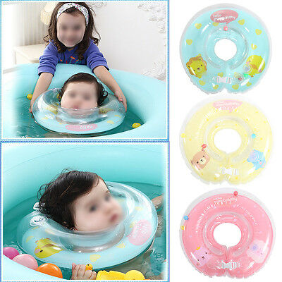 Baby Infant Newborn Swimming Neck Ring Float Inflatable Bath Protection Circle M