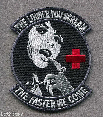Hook patch ORG Louder Scream Faster come Morale Tactical Army Medic Nurse