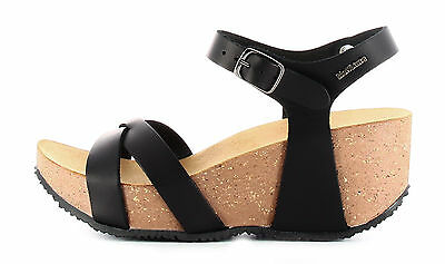 Bionatura FREGENENERO Sandale wedges damen schwarz farbe made in Italy