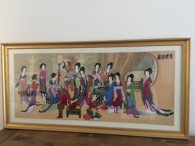 Framed Chinese Ladies Tapestry
