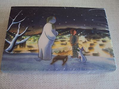 Battery Operated The Snowman and The Snowdog LIGHT UP Christmas  Canvas