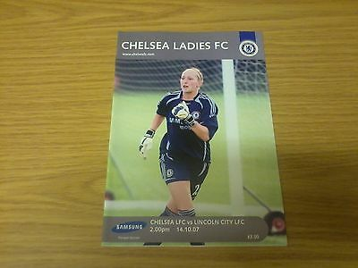 Chelsea Ladies v Lincoln City Ladies 2007-2008 League Cup Programme