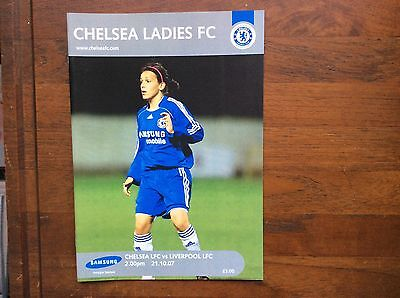 Chelsea Ladies v Liverpool Ladies 2007-2008 Programme