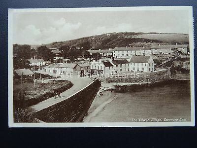 Ireland Waterford DUNMORE EAST The Lower Village & STRAND HOTEL c1930's Postcard