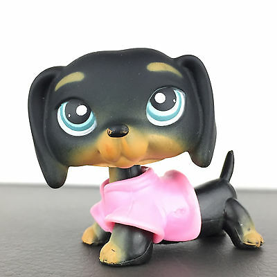Authentic Littlest Petshop 325 Dog Dachshund / Chien Teckel LPS Pet Shop