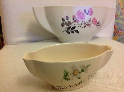 Two table flower pots one large one small NEW DEVON POTTERY NEWTON ABBOT ENGLAND