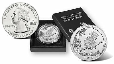 USA 2015 Kisatchie National Forest  Uncirculated Five Ounce Silver Coin