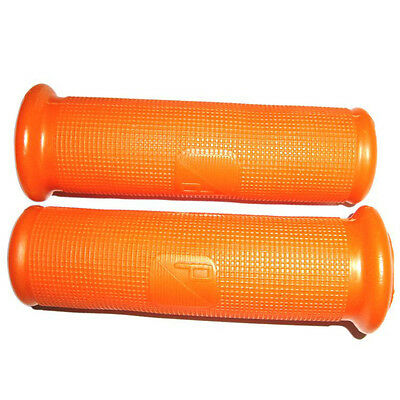 ORANGE RUBBER HAND GRIP COVERS 22mm FITS VBA & EARLY VESPA MODELS