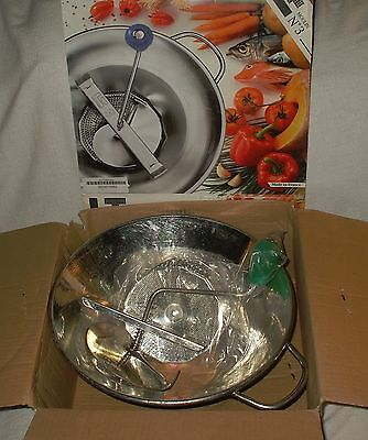 "Moulin S3 Food Mill Strainer Ricer  Puree  3 Blades  Made France ""New Old Stock"""