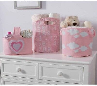 Delta Children 3-Piece Canvas Nursery Storage Set (Choose Your Print)