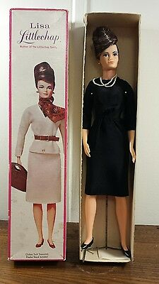 Vintage Remco Lisa Littlechap With Box, Stand