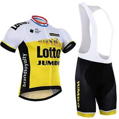 Mens Cycling Short Sleeve Jersey + Bib Shorts Set Quick Dry Breathable Clothes