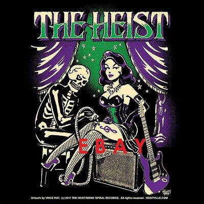The Heist TShirt (L) - Vince Ray Shirt Original Commission Art Hard Rock