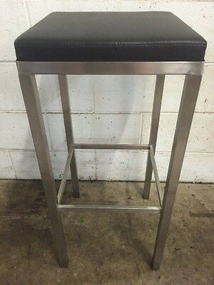 Commercial Stainless Bar Stool Restaurant Cafe Bar Pub Club Man Cave Equipment