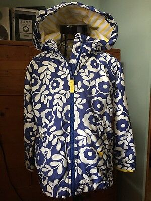 Mini Boden Summer Coat Jacket Mac With Hood Age 3-4 Years Girls