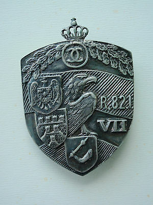 Romania Kingdom Officer's Regiment Badge For 82Nd Infantry Medal Very Rare!!