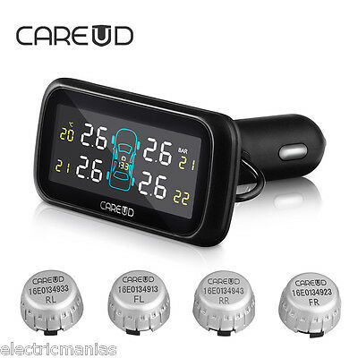 Auto Car TPMS Tire/Tyre Pressure Monitoring System Wireless+External 4Sensor LCD