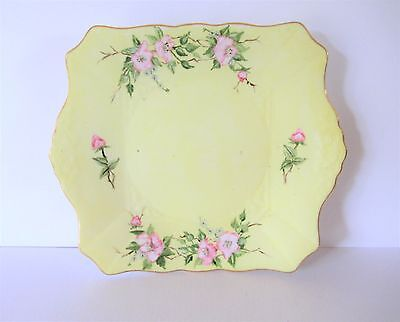 A Pretty Tuscan Hand Painted Cake / Sandwich Plate c1947