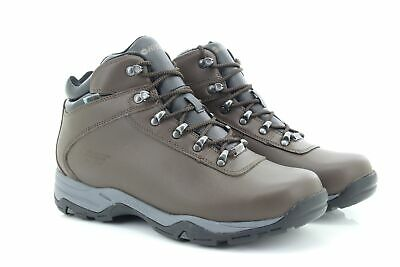 Hi-TEC EUROTREK Wp Ankle Hiking Boots Dri-Tec System Dk.Brown Coated Leather