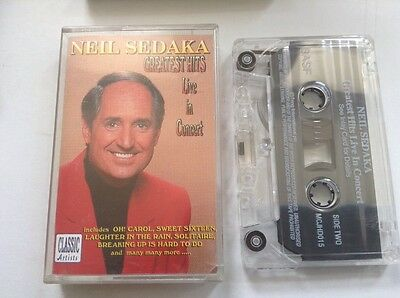 Cassette Music Tape. Neil Sedaka Greatest Hits