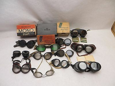 Vintage Lot of Willson & Other Metal Safety Goggles Glasses Lenses Steampunk