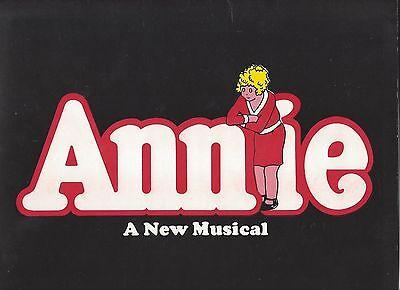 "Souvenir Program ANNIE - 9"" x 12"" (Mint!) - 4 ticket stubs included!"