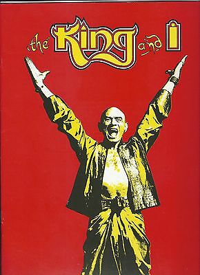 "Souvenir Program THE KING & I (Yul Brynner) - 9"" x 12"" (Mint!)"