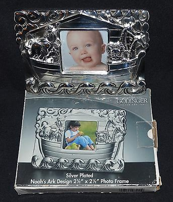 Godinger Silver Plated Picture Frame. Noah's Ark. New In Box