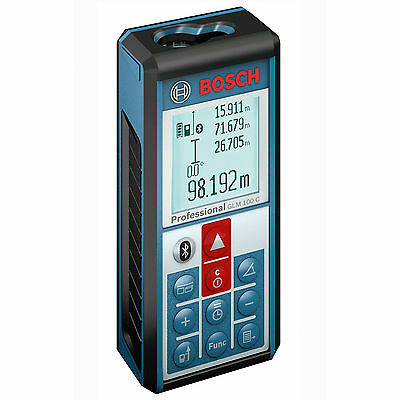 Bosch GLM 100 C Laser Distance Meter Inch Bluetooth iOS Phone Android NEW IN BOX