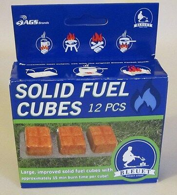 NEW Bleuet Solid Fuel Cubes 12 Pack. Emergency/Survival Fire Starters Camping