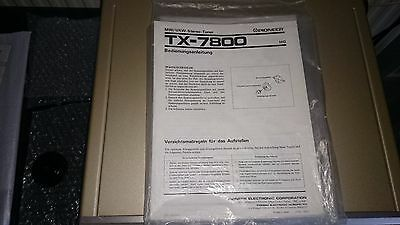 Pioneer TX-7800 Stereo Tuner instruction manual