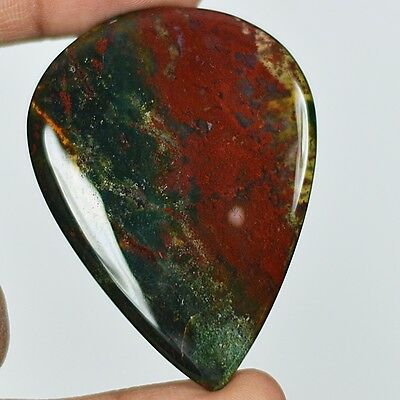112ct Natural Best Grade Blood Stone Pear Cabochon from Africa AC45