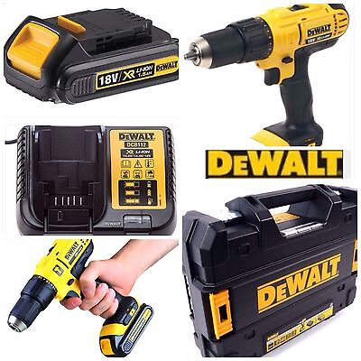 Dewalt Cordless Drill 18V With Hammer Action  Latest T Stak Case Complete Kit
