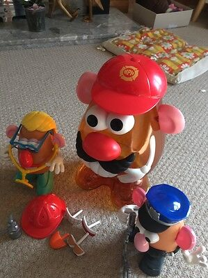 Mr Potato Head Carry case And Emergency Service Potatos And Parts Free Post
