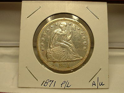 1871-P Liberty Seated Dollar! High Grade P/l Coin!