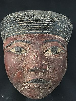 Rare Ancient Egyptian Ahmose Mask New Kingdom (1550-1525)