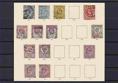 Gb King Edward 1911 Issues + Varieties Stamps Cat £360+  Used   Ref 4745
