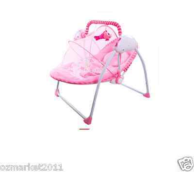 Security Pink Automatic Baby Music Swing Chair/Electric Rocking Chair QX