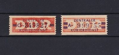 Ddr 1958 Central Courier Officials  Stamps  Mnh , Full Gum  Cat £138  Ref 5402