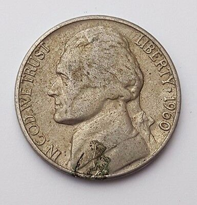 U.S.A - Liberty - Dated : 1960 - Five Cents / Nickel / 5c Coin - American Coin