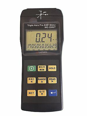 EMI Magnetic field gauss Meter detector MG-2000T Triple Axis Professional use