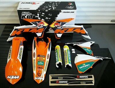 New 2014-2015 Ktm Exc 125 200 250 300 350 450 500 Plastics And Graphics Kit
